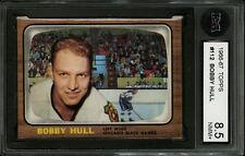 66-67 1966 TOPPS HOCKEY CARD~#112~BOBBY HULL~KSA 8.5 (NMM+)~CHICAGO BLACKHAWKS