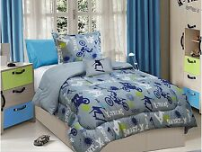 SKATEBOARD,BIKE XTREME SPORTS BOYS CHIC COMFORTER SET TWIN