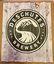 Deschutes Brewery Tin Sign👀Man cave. 15x18 aged Look!