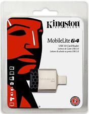 Kingston MobileLite G4 USB 3.0 FCR-MLG4 Multi-Media SDHC SDXC Memory Card Reader