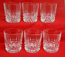 Cristal D'Arques-Durand TUILLERIES VILLANDRY Rocks OLD FASHIONED Glass Set of 6