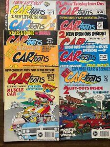 CARtoons Magazine 10 in total 1980-90's Car Automobile Comic Book