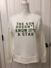 fc47ad3a193 New Madewell The Sun Doesn'T Know It'S Star Sweatshirt Cloud Lining Sz ...