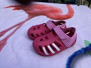 Adidas Varisol Kids Sandals D67313 Viber Pink/White  size UK 5.5