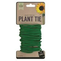 5.5m GREEN SOFT TWIST PLANT TIES TRAINING SUPPORT WIRE REUSABLE STRONG GARDENING