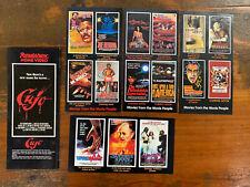 Lot of 5 Roadshow Home Video promo FLIER rare Australian VHS flyer precert
