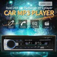 SWM 530 LCD Bluetooth Car Stereo Audio In-Dash FM AUX USB MP3 Radio Player