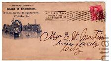 1898 Atlanta Georgia Cover Local Use - Stationery Engineers - Barry Cancel