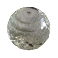 Large Clear Cut Glass Paperweight Crystal Style Collectable Ornament Gift