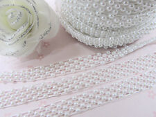 21 yards Pearl Bead Ribbon Roll/13mm Pearly Garland/Craft/Plastic/Trim R68-B