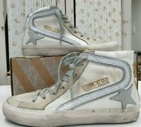 Golden Goose Women's Shoes Slide Canvas White Leather Sneakers 100% Authentic