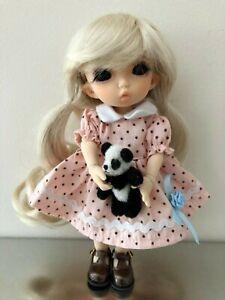 "6.5"" 1/8 BJD MSD Pukifee Nanuri Size Doll fullyassembled/dressed W/ panda bear"