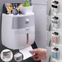Bathroom Waterproof Wall-Mount Paper Tissue Towel Roll Box Toilet Holder Drawer