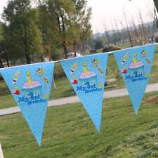 My 1st Birthday Baby Boy Blue Banner Bunting Flag Happy Birthday 2.5 Meter