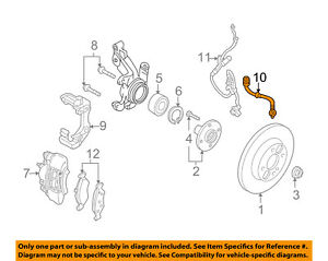 FORD OEM 05-07 Focus Front Brake-Flex Hose 6S4Z2078A