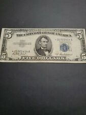1953-A US $5 Dollar Silver Certificate Star Note