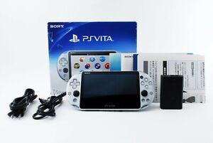 Sony PS Vita Silver Slim PCH-2000 w/ Charger + Box
