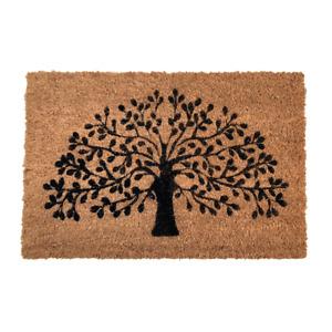Tree of Life Doormat Natural Coir Welcome Mat Non-Slip Indoor Outdoor Quality UK