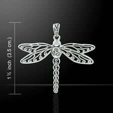 Cary Buziak Triskele Dragonfly .925 Sterling Silver Pendant by Peter Stone