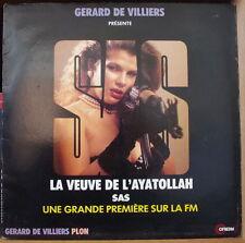 GERARD DE VILLIERS SAS LA VEUVE DE L'AYATOLLAH SEXY CHEESECAKE COVER FRENCH LP