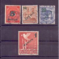 Berlin Briefmarken Aufdruck 1949 - MiNr. 64/67 gestempelt - Michel 40,00 € (289)