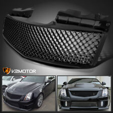 2003-2007 Cadillac CTS CTS-V Glossy Black Mesh Upper Bumper Front Hood Grille