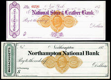 US Revenue Stamps: RN-D1, RN-D4, Uncirculated Checks, 1870s