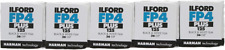 Ilford FP4 Plus ISO 125 Black & White 24 Exposure 35mm Film - 5 Pack