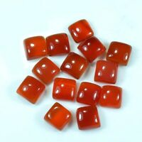 11x11mm To 20x20mm- Natural Red Onyx Square Cabochon Loose Gemstone-Onyx AAA