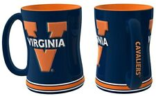 NCAA Virginia Cavaliers Coffee Mug 14oz Sculpted Relief Boelter Brands