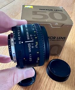 Nikon NIKKOR 50mm f1.8 AF-D  Standard lens...Boxed....Mint