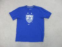 Nike USA Soccer Shirt Adult Large Blue White United States Football Futbol Men *