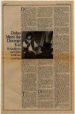 Kris Kristofferson Interview/article 1973 RS-VCXZ