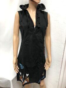 Robe à Capuche Femme Desigual réf 69V20D1 Taille 44 Couleur Noir Neuf !!!!