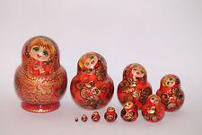 Russische Matroschka Holzpuppe Babushka 10-teilig 14 cm zur Auswahl siehe Bilder
