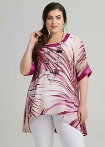 ts Taking Shape Tunic Size M Palm Sunset style NWT