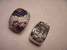 Omega back Not Enhanced Diamond Fine Earrings