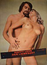 HAPPY LOVE Der Liebesakt Sexfilm Sandee Darlene Filmplakat A1 GEROLLT 70er