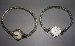 Vintage lot of 2 Hamilton Ladies Watches 10k GF working