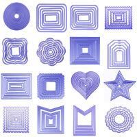 DIY Metal Geometry Cutting Dies Stencil Scrapbooking Embossing Album Card Decor