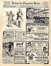 Franz Spielhagen Berlin Kalodont Mez & Cie. Bergedorf Hamburg Patent-Besen..1893