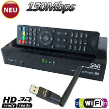 ► SAB Sky 4780 FTA Full HD sat Receiver USB media player YouTube WLAN HDTV WiFi