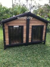 Dog Kennel Somerzby Double door outdoor wooden pet house