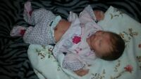 """Painted & Rooted Newborn Full Body Silicone Baby Girl """"Hadley"""""""