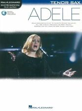 PlayAlong ADELE Play POP Skyfall TENOR SAXOPHONE SAX MUSIC BOOK & Online Audio