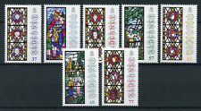Alderney 2015 MNH Christmas Anne French Stained Glass Windows 7v Set Stamps