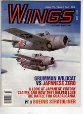 Wings Airplane Magazine Oct 1998 Grumman Wildcat vs Japanese Zero Stratoliner