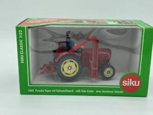 Siku 3468 – Porsche Super mit Seitenmähwerk 1:32 Classic NEU OVP MISB