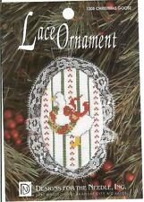 CHRISTMAS GOOSE Lace Ornament Cross Stitch Kit Designs for the Needle - Started
