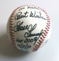Autographed Rawlings Goose Corsage Baseball Personalized 2008